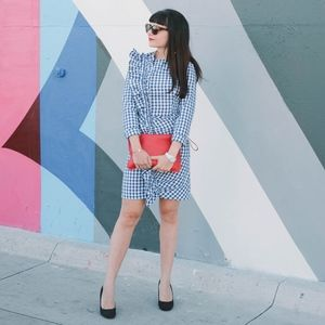 H&M Ruffle Gingham Dress